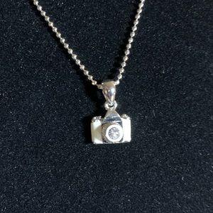 Camera pendant mini enamel w/CZ